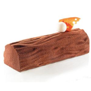 Kit Wood - Tårtform med ett barkmönster. Från Silikomart