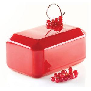 Tesoro 1300 silikonform för tårta från Silikomart röd