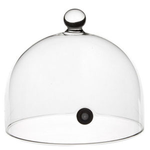 Glaskupol med ventil för rökning 14cm från 100%chef