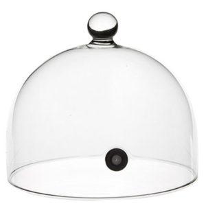 Glaskupol med ventil för rökning 18cm från 100%chef
