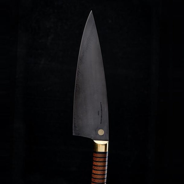 Florentine kitchen knives: Three CS Wood & Leather svart