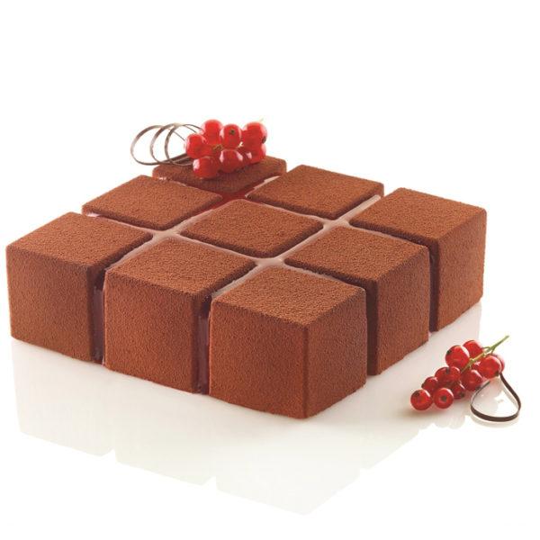 Cubik 1400 ml sparyad med brun choklad