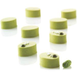 Micro Oval5 - Silikonmatta med 35 ovala formar i mikroformat.