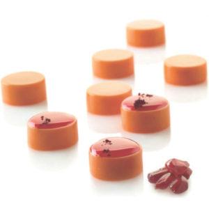 Micro Round5 - Silikonmatta med 35 runda formar i mikroformat.