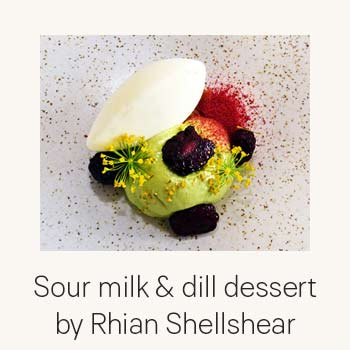 Sour milk and dill dessert by Rhian Shellshear Recept Sour milk and dill dessert by Rhian Shellshear