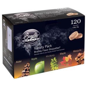 Rökbriketter till Bradley Smoker - Blandlåda 120-pack