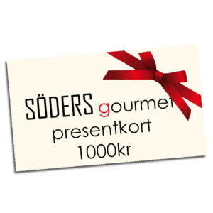 Presentkort från Söders gourmet värde: 1000kr