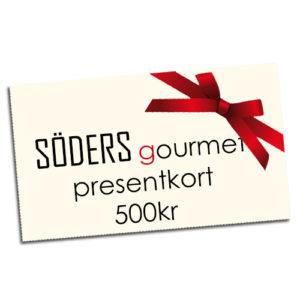 Presentkort från Söders gourmet värde: 500kr