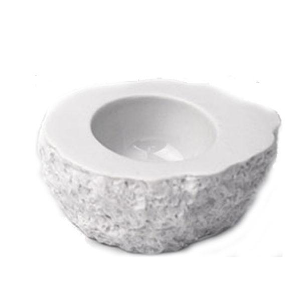 Rock Small 2-pack stenformad skål från 100%chef