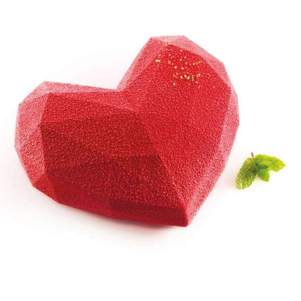 Amore Origami 600 Hjärtformad silikonform i origamistil