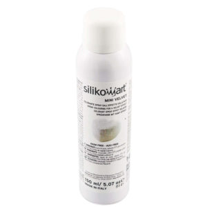 Velvet sprayfärg VIT mini 150ml Silikomart