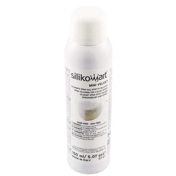 Velvet sprayfärg VIT mini 150ml Silikomart