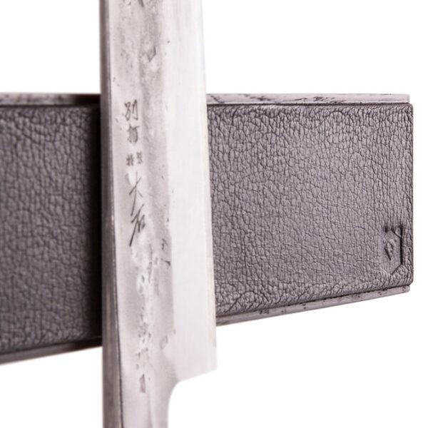 Black Leather Knife Holder 40cm