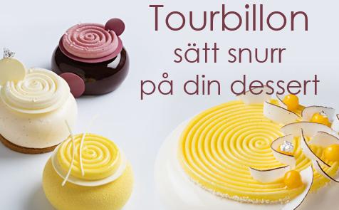 Tourbillon 9, Tourbillon 28 och Tourbillon 100 en silikonform som enspiral eller snurra för att dekorera den dessert, din tårta eller bakverk från Silikomart. Finns hos Söders gourmet