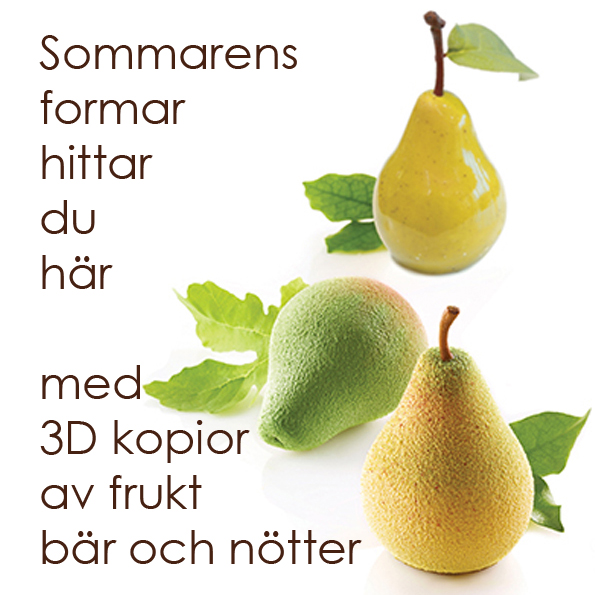 Sommarens formar med frukt, bär och nötter från Silikomart från Söders gourmet