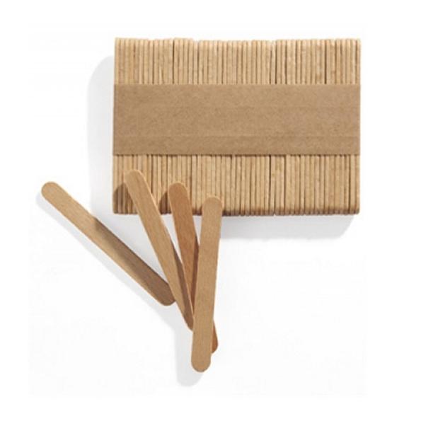 Glasspinnar MINI i trä 500-pack för tillverkning av glassar - Söders gourmet