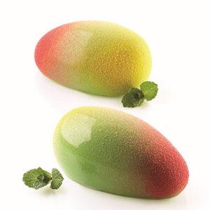 Mango 130 från Silikomart Professional är en unik form för att skapa 3D kopior av mango med en volym på 130ml. Perfekt för en dessert!