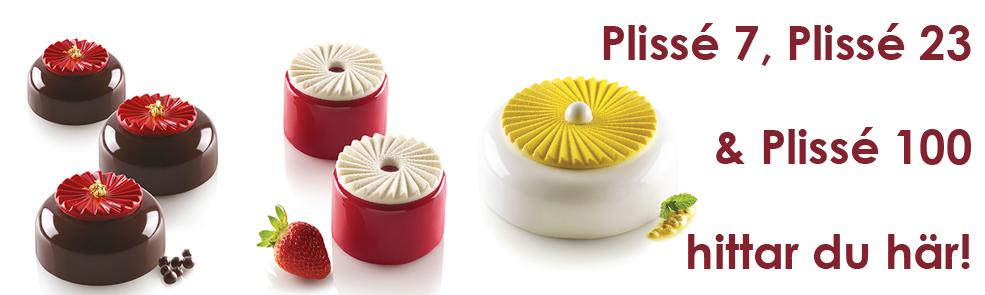 Nya formar från Silikomart Professional - Plissé 7, 23 och 100 dekoration - Söders gourmet
