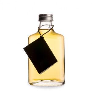 Hipsterflaska 200ml. Klassisk platt flaska i glas - Söders gourmet