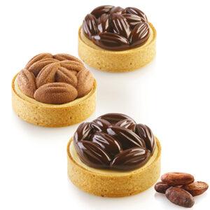 Kit Tarte ring rund Ø70mm Cocoa från Silikomart - Söders gourmet
