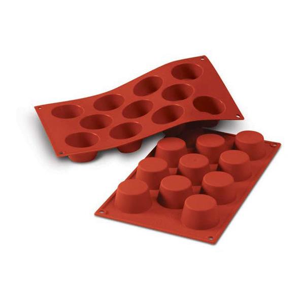 SF022 Small Muffin 50ml - silikonform från Silikomart - Söders gourmet