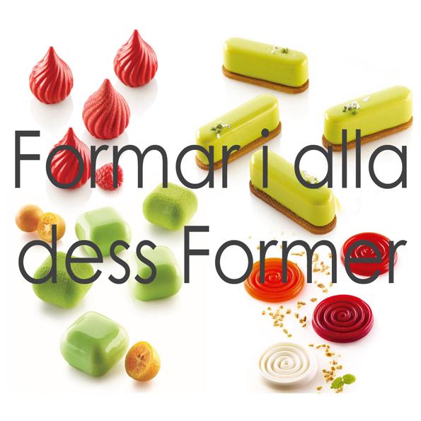 Formar i alla dess former från silikomart professional till dig via Söders gourmet