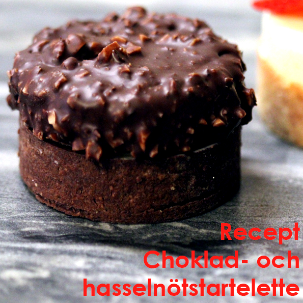 Choklad- och hasselnötstartelette banner recept Johan Heibert Gastronomi - Silikomart Professional - Söders gourmet