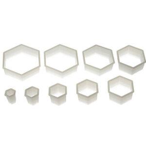 Utstickare Hexagon 9-pack Släta - Silikomart - Söders gourmet
