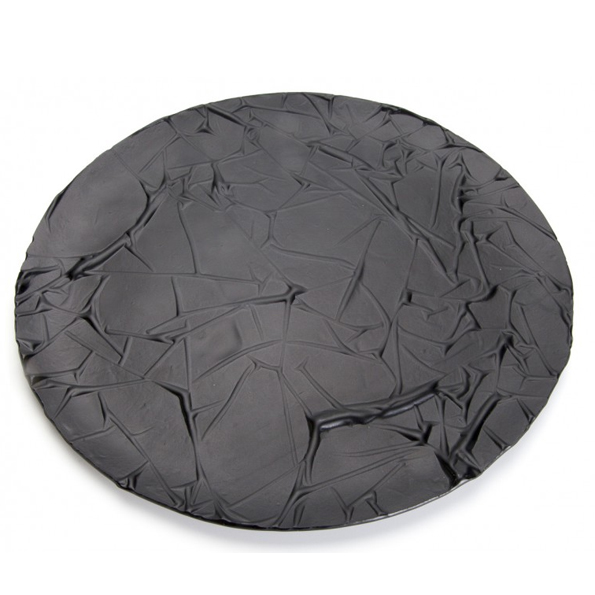 Black Stucco Glastallrik 27cm Exklusiv tallrik av Opaline- Söders gourmet