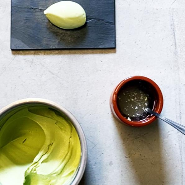 Äggad granskottsglass av Johan Heibert Gastronomi för Söders gourmet med Pacojet
