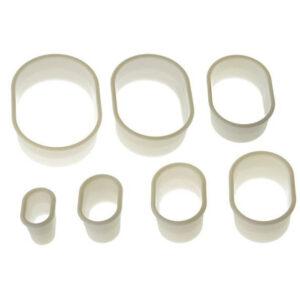 Utstickare Oval 7-pack Släta - Silikomart - Söders gourmet
