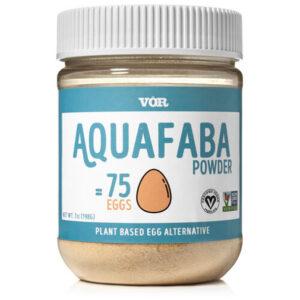 Aquafaba - pulver - torkat avkok från kikärtor - Söders Gourmet - Fridas Vegobak - burken